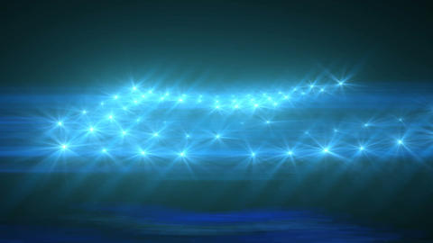 Light Blue Abstract Particle Effect Flashing Light VJ... Stock Video Footage