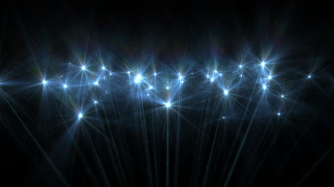 Blue Star Abstract Particle Effect Flashing Light VJ Background Footage