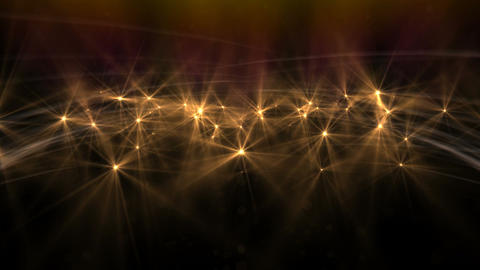 Orange Abstract Particle Effect Flashing Light VJ Background Footage