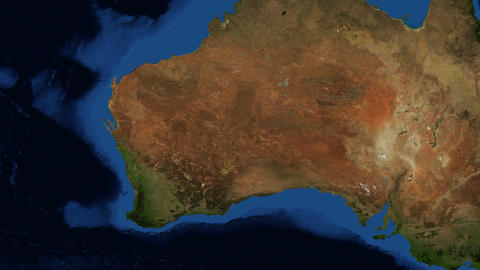 WA - Western Australia from space - zoom Footage