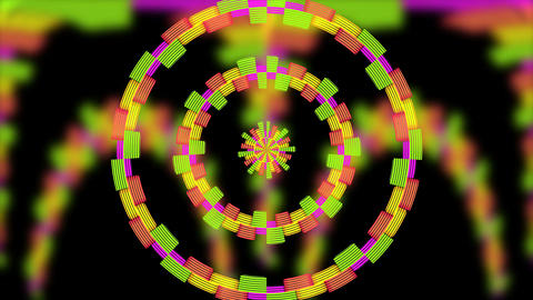 audio waveform spectrum av projection background Footage