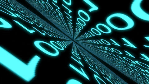 Numbers Digital World Binary Computer Data Code Cyberspace Graphic Animation stock footage