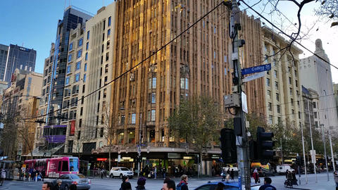 Melbourne City Victoria Australia - CBD Live Action