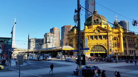 Melbourne City Victoria Australia Footage