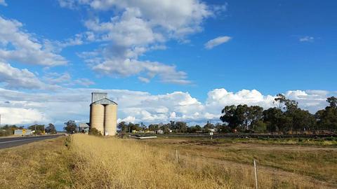 Australian Landscape - Grain Store Agriculture Footage