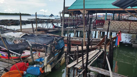 Thailand Fishing Village Panyee - Travel Holiday Destination Footage