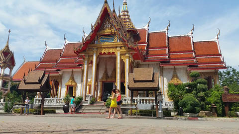 Thailand Buddhist Temple of Wat Chalong Phuket - Thailand Tourism Live Action