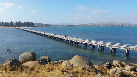VICTOR HARBOR, AUSTRALIA - JANUARY 2015 stock footage