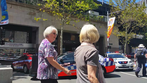 SYDNEY, AUSTRALIA - JANUARY 22, 2014: Terrorism in Australia Footage