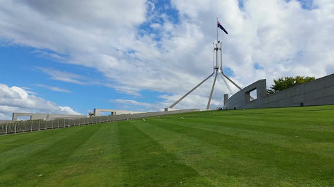 Canberra - Parliament House stock footage