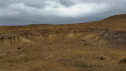 Soil Erosion Arid Landscape stock footage