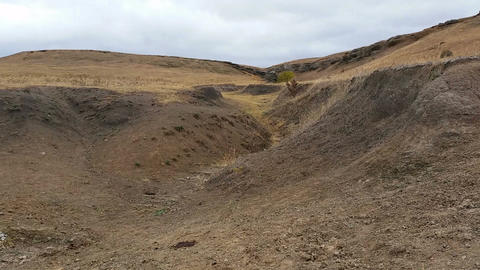 Soil Erosion Arid Landscape Footage