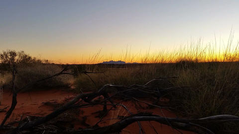Uluru, Ayers Rock Outback Australian Landmark Red Desert Landscape Live Action