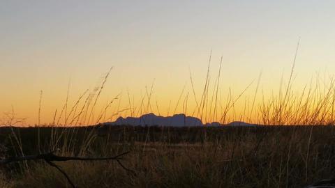 Kata Tjuta The Olgas Australian Landmark Outback Red Desert Landscape Live Action