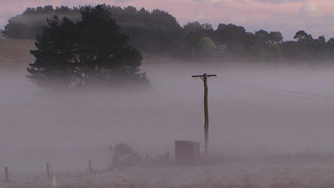 Morning Country Powerpoll Mist stock footage