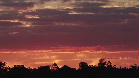 Australia Country Sunet Footage