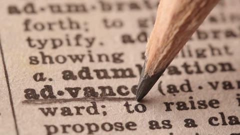 Advace - Fake dictionary definition of the word with pencil underline Live Action