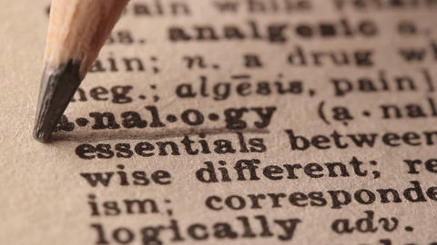Analogy - Fake dictionary definition of the word with pencil underline Live Action