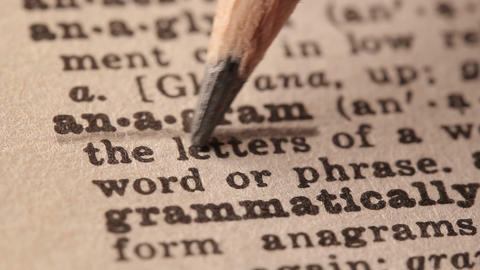 Anagram - Fake dictionary definition of the word with pencil underline Live Action