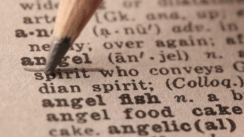 Angel - Fake dictionary definition of the word with pencil underline Footage
