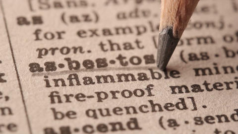Asbestos - Fake dictionary definition of the word with pencil underline Live Action