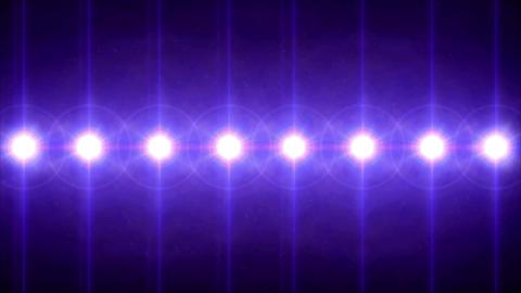 circle lens flares pattern turn on 4k Animation
