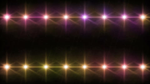 double Stars lens flares pattern color 4k Animation