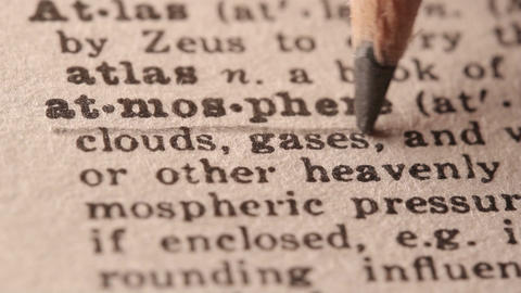 Atmosphere - Fake dictionary definition of the word with pencil underline Live Action
