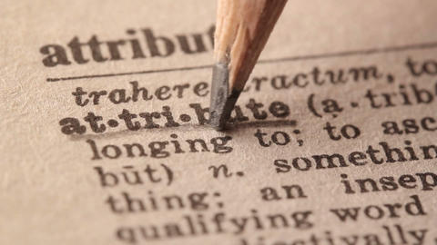 Attribute - Fake dictionary definition of the word with pencil underline Live Action