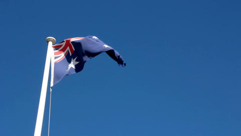 Flag Of Australia Footage