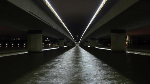 bridge background night timelapse Footage
