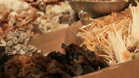Mushrooms - Organic Vegetarian Food Market Footage