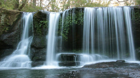 Rainforest Waterfall - Slow Shutter Footage