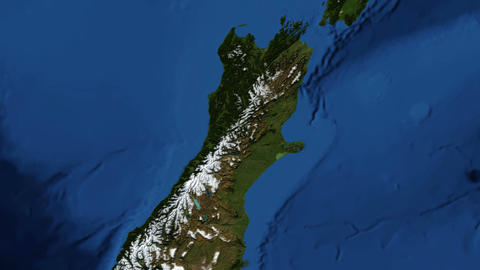 New Zealand from space Footage