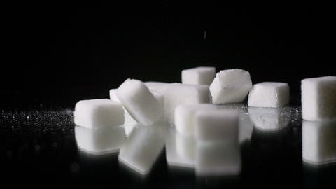 White Sugar Cane Cubes Glucose Sweetener Slowmo Footage