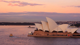Opera House Sydney Harbour Australia Sunset Footage