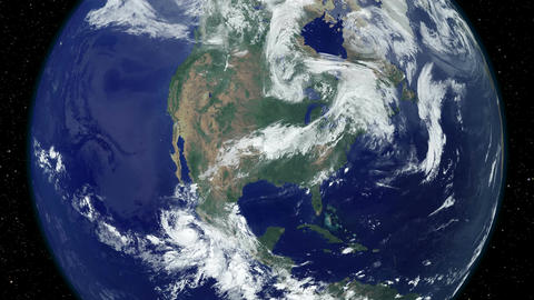 Earth - USA - United States of America Slow Zoom Live Action