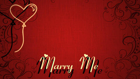 Marry Me Romantic Love Animation ビデオ