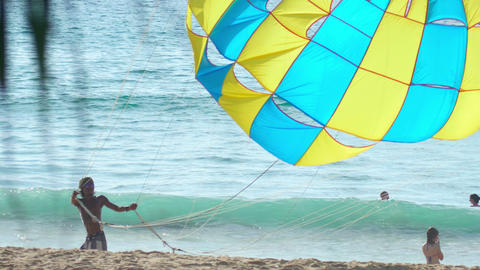 Parachute for parasailing Footage