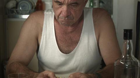 prescription pill medication drug addiction adult male man Footage