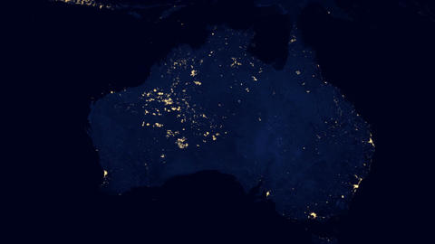 Australia by Night Footage