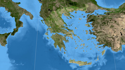 Sterea Ellada - Greece region extruded. Set of four animations Animation