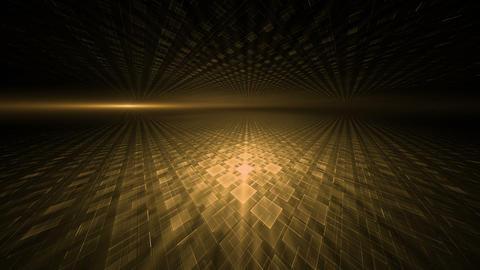 Dynamic Orange Translucent Cubical Horizon Animation