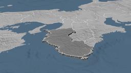 Wakayama - Japan prefecture extruded. Bumps Animation